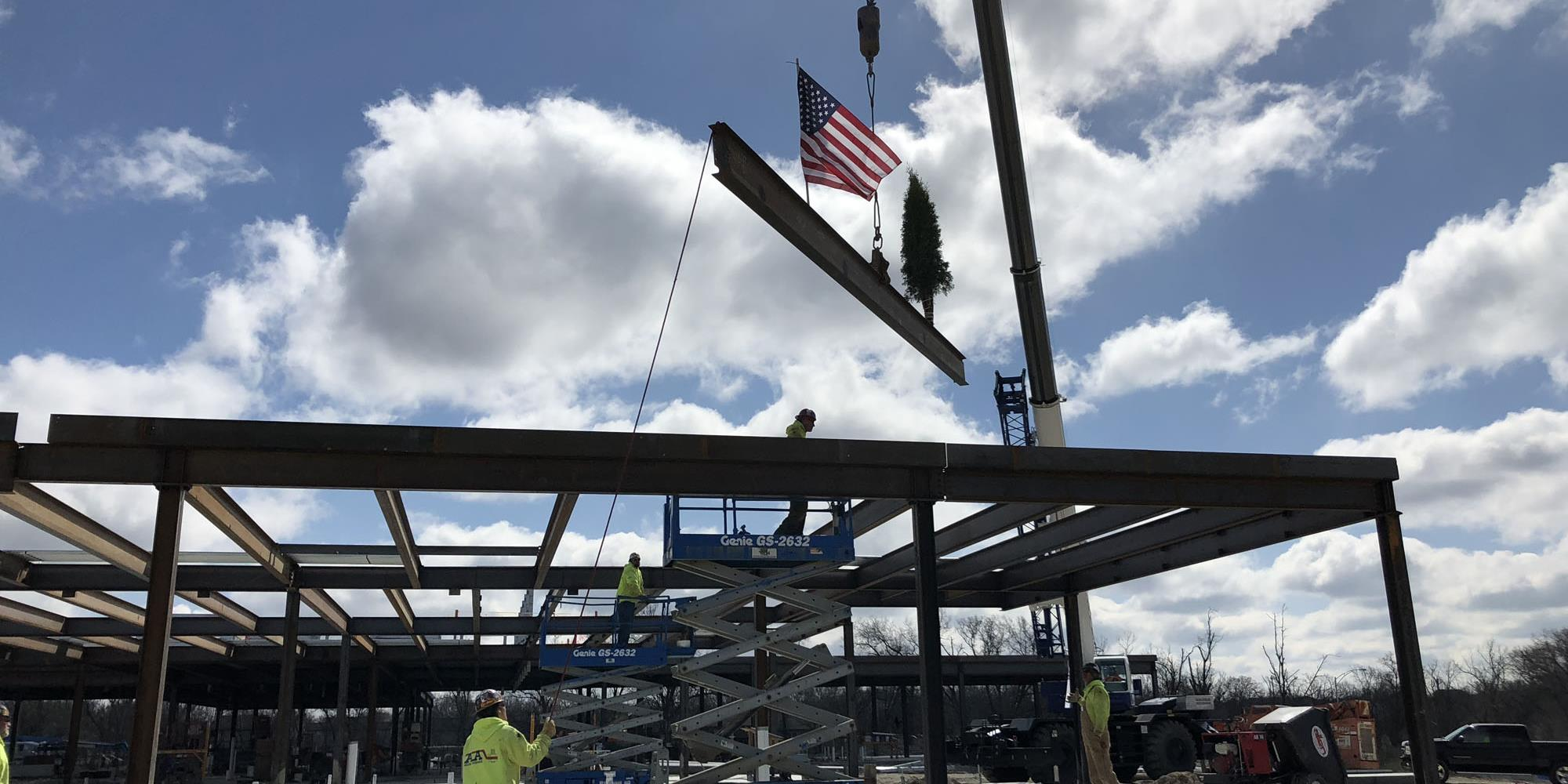 Topping Out CenterPointe Hospital