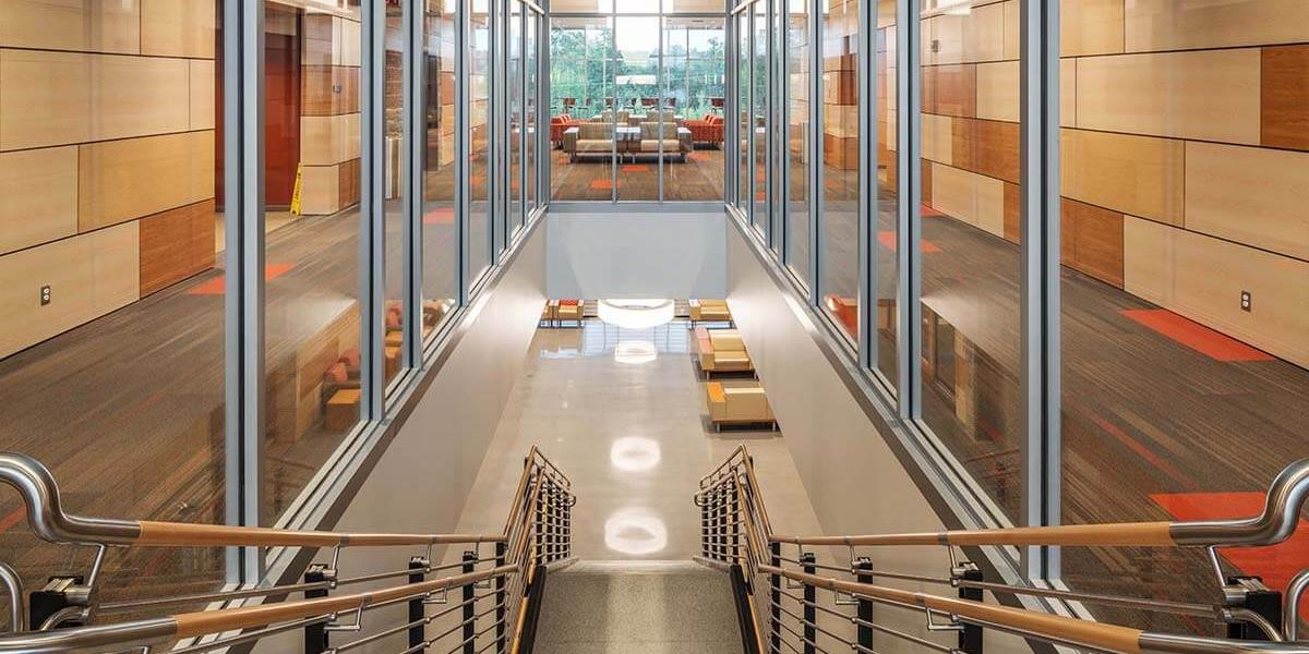 NSCC A&S_Interior_stairs_2story south view